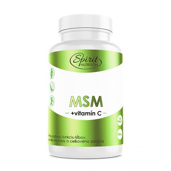 MSM + vitamín C 140 tabl.